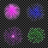 Fuochi d'artificio messi isolati Immagine Stock