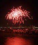 Fuochi d'artificio a Montreal Immagine Stock
