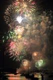 Fuochi d'artificio Multi-coloured Fotografia Stock