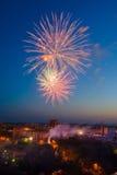 Fuochi d'artificio multicolori Fotografie Stock Libere da Diritti