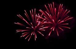 Fuochi d'artificio multicolori luminosi che esplodono nel cielo Immagine Stock Libera da Diritti