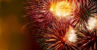 Fuochi d'artificio multicolori scintillanti luminosi Fotografia Stock Libera da Diritti