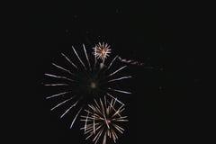 Fuochi d'artificio naturali brillanti Fotografia Stock Libera da Diritti