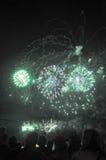 Fuochi d'artificio nel cielo Immagini Stock Libere da Diritti
