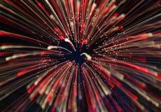 Fuochi d'artificio nel colore rosso Fotografie Stock Libere da Diritti