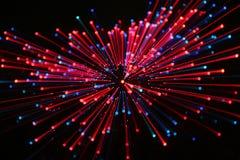 Fuochi d'artificio nel colore rosso Fotografia Stock Libera da Diritti