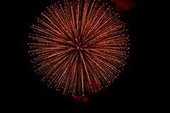 Fuochi d'artificio nel Giappone 2 Fotografia Stock