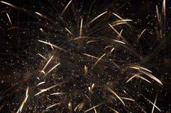 Fuochi d'artificio nel lasso di tempo Fotografie Stock