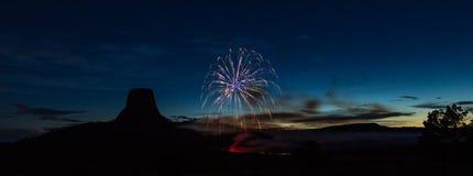 Fuochi d'artificio nel Wyoming Fotografia Stock Libera da Diritti