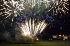 Fuochi d'artificio nella città toscana di Lastra un Signa Fotografie Stock