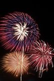 Fuochi d'artificio nella notte Immagine Stock Libera da Diritti