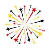 Fuochi d'artificio neri rossi dell'oro giallo Immagine Stock Libera da Diritti
