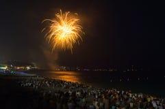 Fuochi d'artificio, Nizza, Francia Immagini Stock Libere da Diritti