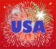 Fuochi d'artificio patriottici Fotografie Stock Libere da Diritti