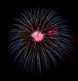 Fuochi d'artificio per celebrare il giorno di pietà 2014 a Barcellona Fotografie Stock Libere da Diritti