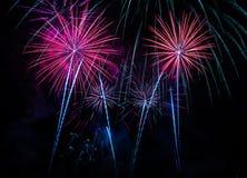 Fuochi d'artificio quattro Immagini Stock Libere da Diritti