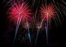 Fuochi d'artificio quattro Immagine Stock Libera da Diritti