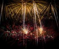 Fuochi d'artificio quattro Fotografia Stock Libera da Diritti