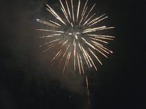 Fuochi d'artificio reali Fotografia Stock Libera da Diritti