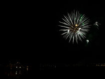 Fuochi d'artificio a Reykjavik Fotografia Stock Libera da Diritti