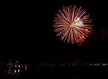 Fuochi d'artificio a Reykjavik Fotografia Stock