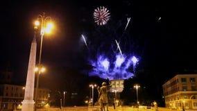 Fuochi d'artificio a Roma, Italia archivi video