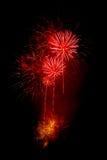 Fuochi d'artificio rossi Fotografia Stock