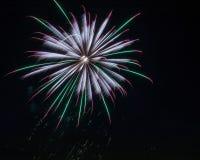 Fuochi d'artificio rossi, bianchi e blu immagine stock libera da diritti