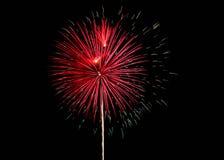 Fuochi d'artificio rossi e bianchi sopra Alessandria d'Egitto, Va 2018 immagini stock libere da diritti