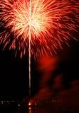 Fuochi d'artificio rossi e gialli Fotografia Stock