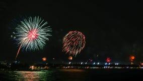 Fuochi d'artificio in samui del KOH Immagini Stock