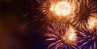 Fuochi d'artificio scintillanti luminosi Fotografia Stock
