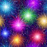 Fuochi d'artificio, senza giunte Fotografia Stock Libera da Diritti
