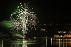 Fuochi d'artificio Shaldon 2015 Fotografie Stock