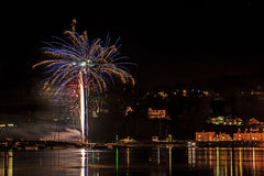 Fuochi d'artificio Shaldon 2015 Fotografie Stock Libere da Diritti