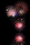 Fuochi d'artificio sopra acqua Immagine Stock Libera da Diritti