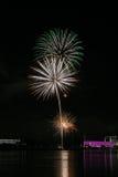 Fuochi d'artificio sopra il Danubio a Linz, Austria #8 Fotografia Stock