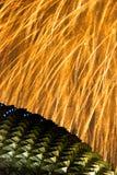 Fuochi d'artificio sopra il Esplanade immagini stock