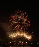 Fuochi d'artificio sopra la Buffalo NY Immagine Stock Libera da Diritti