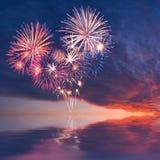Fuochi d'artificio sotto forma di cuore Fotografia Stock Libera da Diritti
