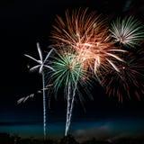 Fuochi d'artificio spettacolari Fotografia Stock Libera da Diritti