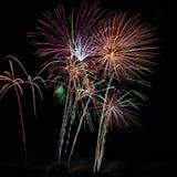 Fuochi d'artificio spettacolari Immagini Stock Libere da Diritti