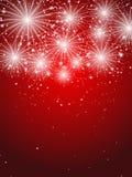 Fuochi d'artificio stellati Fotografie Stock Libere da Diritti