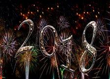 Fuochi d'artificio 2018 stelle immagini stock