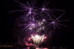 Fuochi d'artificio stupefacenti Immagini Stock