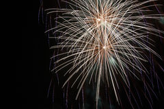 Fuochi d'artificio su fondo nero Fotografie Stock Libere da Diritti