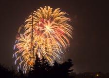 Fuochi d'artificio su Guy Fawkes Night Fotografia Stock Libera da Diritti