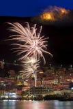 Fuochi d'artificio su tempo di Pasqua Fotografia Stock