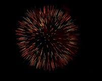 Fuochi d'artificio sul concorso della spiaggia. Fotografia Stock