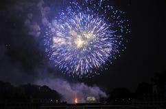 Fuochi d'artificio sulla festa dell'indipendenza Fotografie Stock Libere da Diritti